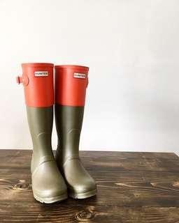 HUNTER BOOTS new 2 tone size 7