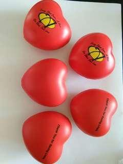 """Heart-shaped"" squishy, blood donation (3pc)"