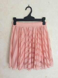Peach color skirt