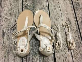 🚚 Gracegift流蘇夾腳涼鞋