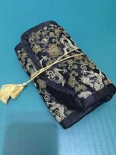 🚚 彩妝用具收納袋中國風龍圖騰絨布刺繡