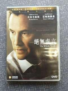 The Whole Truth DVD 絕無虛言 Keanu Reeves