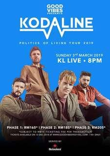 Kodaline KL Live 3rd March