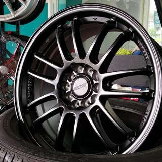 "RE30 17"" Matt Black 5X114.3 (rep)"