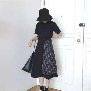 🚚 (九成新)格子造型黑裙