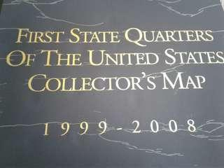 First quarter coins colletors  map7