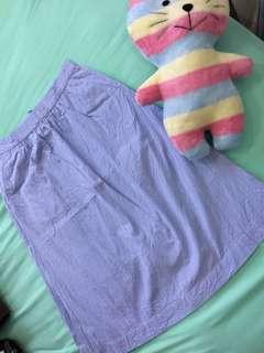 Mango Checked Midi Skirt