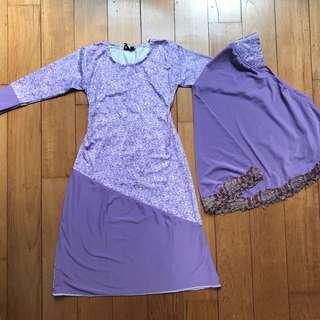 Purple Kurung Kids 2Y