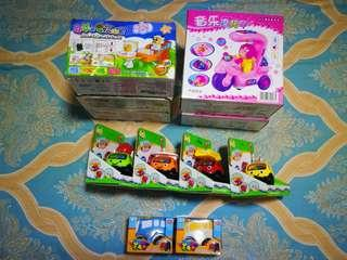 Clear stock assorted toys, car toys for girls boys