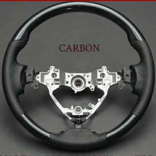 Carbon Fibre Steering Wheel for Toyota Voxy Noah Esquire 80 Series