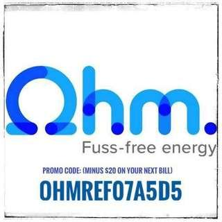 Ohm energy sg - promo code 20$ off