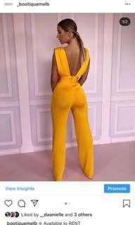House of CB yellow jumpsuit