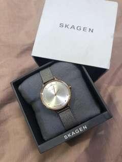 Skagen rose gold/ silver watch