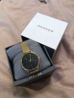Skagen gold and black watch