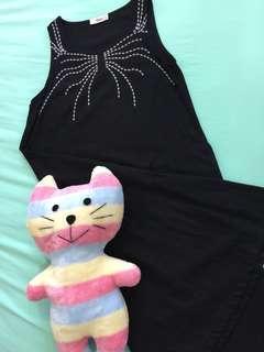 Black Linen Sleeveless Dress (Herz)