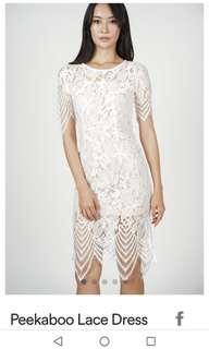 MDS Peekaboo Lace Dress