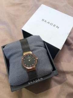 Skagen rose gold/ silver mini watch