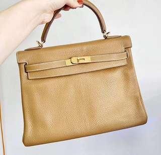 Hermes Kelly32 bag natural sable