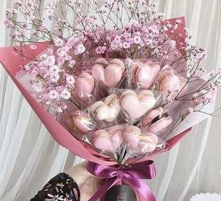 Hearts Macaron Bouquet