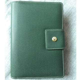 Rolex Leather Organizer / Planner Diary 2005 (Green Colour)