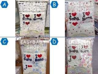 【日本直送】初生純棉初生袍10件套裝 + 首5位加送2對襪仔 (總共12件)