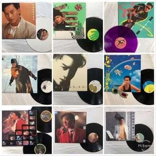 稀有全套極新張國榮珍藏黑膠唱片Leslie Cheung vintage vinyl records set
