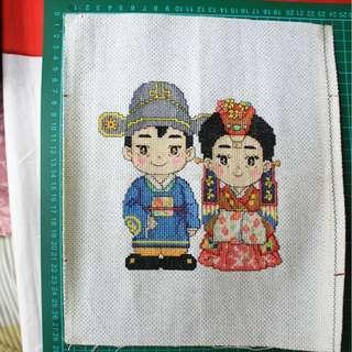 Kristik couple Hanbok