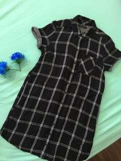 Abercrombie & Fitch T-Shirt Checked Midi Dress