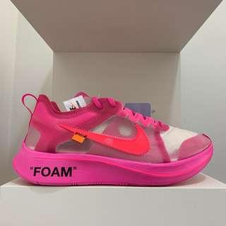 Nike Off White Zoom Fly Tulip Pink