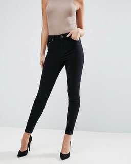 🚚 f21 high waisted black jeans