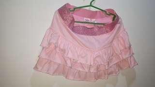 Justice pink skirt with shorts skort size 16
