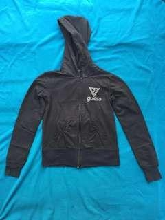 Guess black jacket hoodie