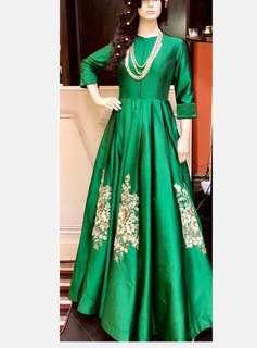 Custom Emerald Green Gown