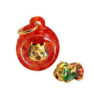 999 Pure Gold Rebellious Baby Pixiu (小辣椒) Keychain