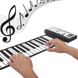 Portable 61 Keys Roll-Up USB MIDI Keyboard Conctroller Hand Electronic Piano (Free Delivery)