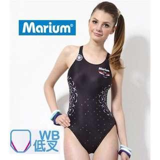Marium 全新 大女 競賽型泳衣 低叉 台中可面交