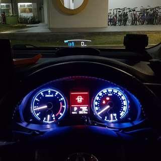Toyota Altis EANOP HUD OBD OBD2 Gauge