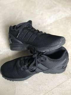 🚚 Adidas Unisex Black Sneakers ZX FLUX - Size 37 Womens