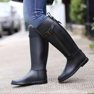 Burberry Knee High Boot Black Size 5.5US / 36EU - Authentic