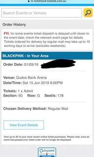 BlackPink Sydney ticket x1