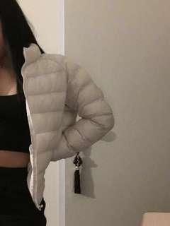 White / cream puffer from uniqlo size small
