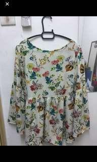 Free size Babydoll flowery top