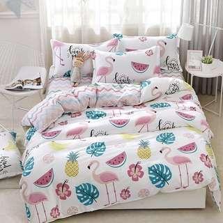Flamingo Viral Bedsheet Set