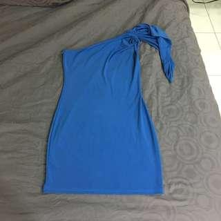 [Preloved] Blue Dress Free Size Stretchable