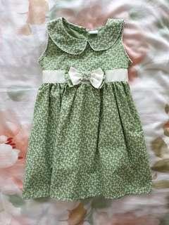🚚 Toddler Sleeveless Green Dress