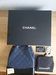 Chanel Gabrielle Backpack Navy blue