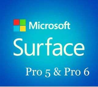 Microsoft Surface Pro 5 & 6