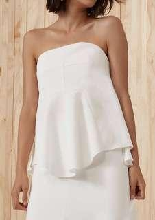 C/meo Collective White Bustier