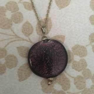 Purple Long Chain Necklace