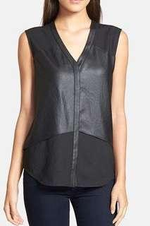 TROUVE BLACK SLEEVELESS TOP